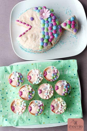 Makerist - Ein Fischkuchen zur Taufe - Torten, Cake Pops und Cupcakes - 2