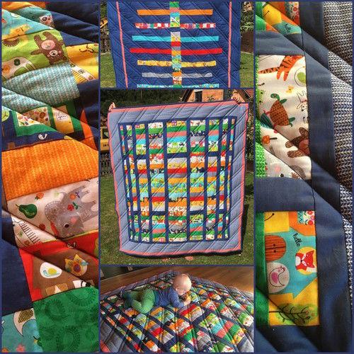 Makerist - Kinderkrabbeldecke zur Taufe - Patchwork-Projekte - 1