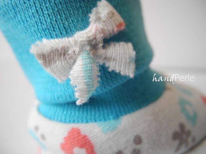Makerist - Süße Gamaschensöckchen zur Geburt - Nähprojekte - 2