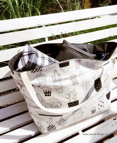 Makerist - Bade-/Strandtasche PINETA medium - Nähprojekte - 1