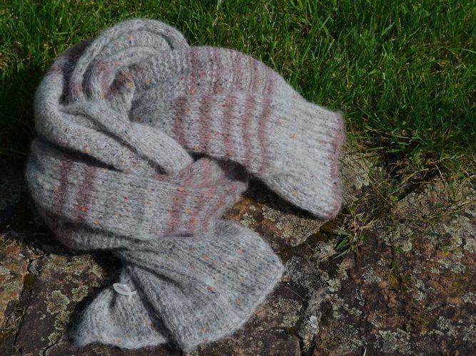 Makerist - Tweed Schal - Strickprojekte - 3