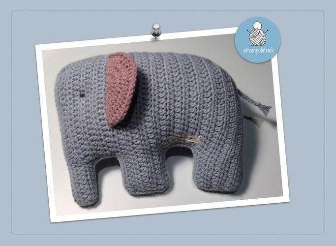 Makerist - Elefant Kuschelkissen  - Häkelprojekte - 1