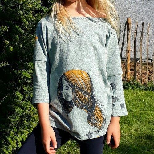 Makerist - Shirt Karla Gr. 134 - Nähprojekte - 1