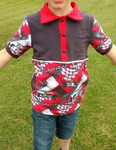 Makerist - Kragenshirt/Poloshirt Paul von Petit et Jolie Design für meinen Sohn aus Rennfahrer-Jersey - Nähprojekte - 1