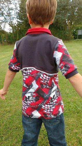 Makerist - Kragenshirt/Poloshirt Paul von Petit et Jolie Design für meinen Sohn aus Rennfahrer-Jersey - Nähprojekte - 2