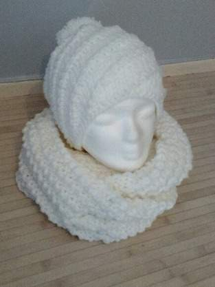 Makerist - Ensemble snood/ bonnet spirale au tricot - 1