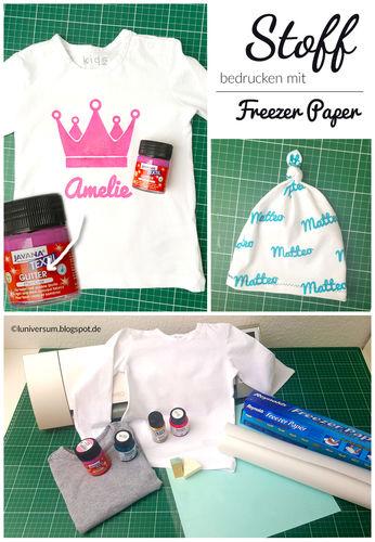 Makerist - Stoff bedrucken mit Freezer Paper als Schablone - Textilgestaltung - 1