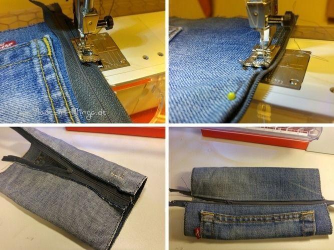 Makerist - Schlampermäppchen aus alter Jeans - Nähprojekte - 2