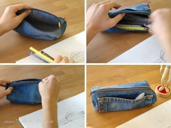 Makerist - Schlampermäppchen aus alter Jeans - Nähprojekte - 3