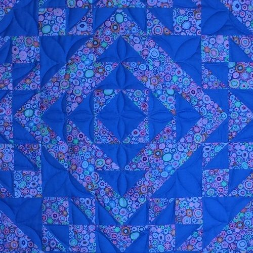 Makerist - Geometrie in Azurblau  - Patchwork-Projekte - 2