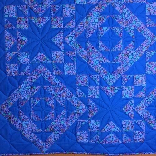 Makerist - Geometrie in Azurblau  - Patchwork-Projekte - 3