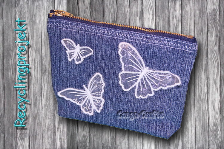 Makerist - Tasche mit Reißverschluss aus alter Jeans nähen - Recycling DIY - Nähprojekte - 1