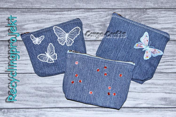 Makerist - Tasche mit Reißverschluss aus alter Jeans nähen - Recycling DIY - Nähprojekte - 2