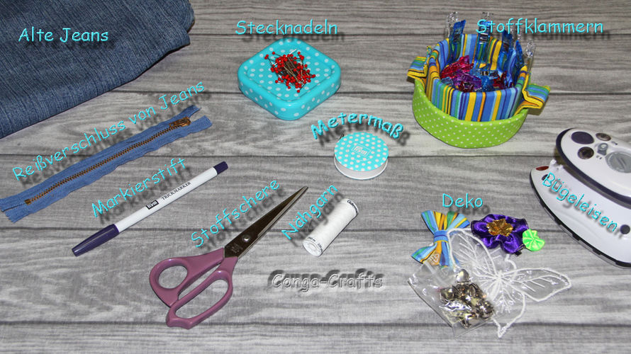 Makerist - Tasche mit Reißverschluss aus alter Jeans nähen - Recycling DIY - Nähprojekte - 3
