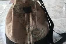 Makerist - Bucket-Bag aus Kunstleder und Canvasstoff Landkarte - 1