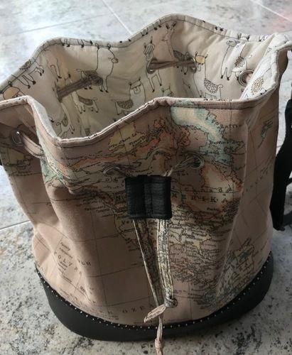 Makerist - Bucket-Bag aus Kunstleder und Canvasstoff Landkarte - Nähprojekte - 2