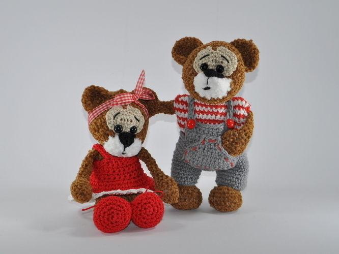 Makerist - Bertha und Bruno - ein Bärenpaar - Häkelprojekte - 2