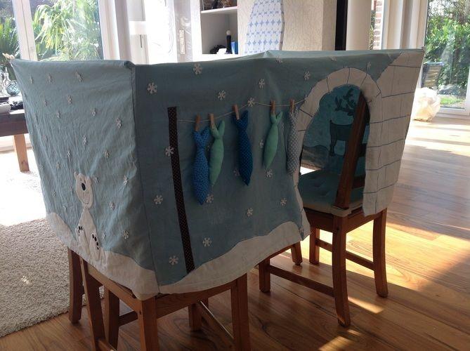 Makerist - Tischhusse Spielzelt für eine Kindergartengruppe  - Nähprojekte - 1