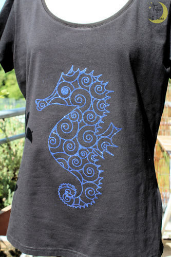 Makerist - Seepferdchen-Shirt - Textilgestaltung - 1