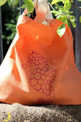 Makerist - Seepferdchen-Beutel - Textilgestaltung - 1