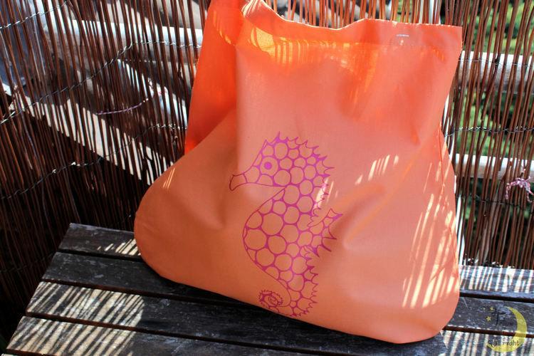Makerist - Seepferdchen-Beutel - Textilgestaltung - 2