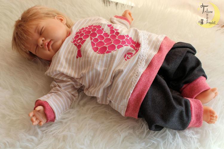 Makerist - Seepferdchen-Babyset - Nähprojekte - 1