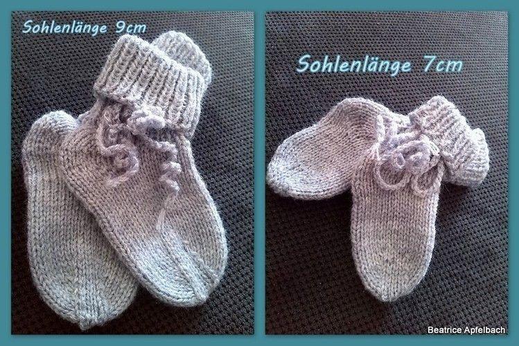Makerist - Babysöckchen - Strickprojekte - 1