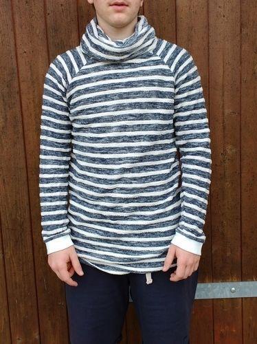 Makerist - Hoodie Himmlischer Vince für einen Teenie aus Doubleface Strick in maritimen Streifen - Nähprojekte - 1