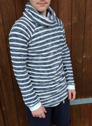 Makerist - Hoodie Himmlischer Vince für einen Teenie aus Doubleface Strick in maritimen Streifen - Nähprojekte - 3