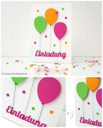 Makerist - DIY: Einladungskarte mit bunten Luftballons - DIY-Projekte - 1