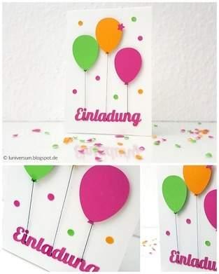 Makerist - DIY: Einladungskarte mit bunten Luftballons - 1