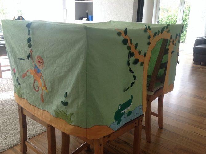 Makerist - Tischzelt Spielzelt für eine Kindergartengruppe - Nähprojekte - 1