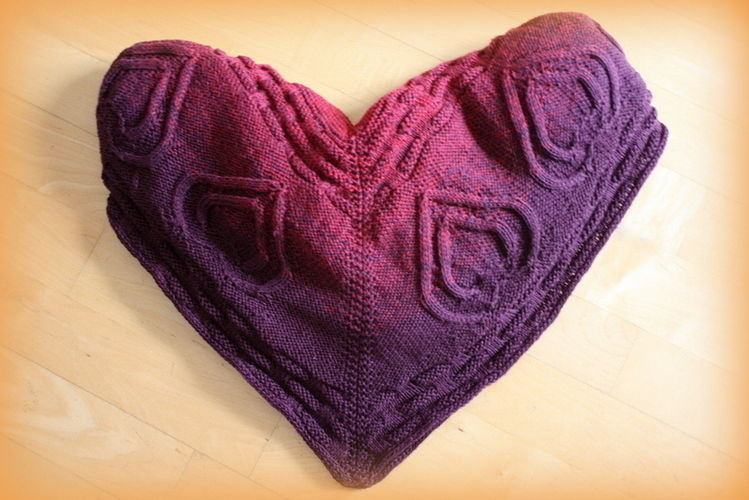 "Makerist - Babydecke ""Double Heart, MOM and BABY"" - Strickprojekte - 1"