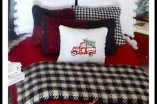 Makerist - Rustic Christmas Dollhouse Bedding - Pretty bedding for a seasonal look in a dollhouse - 1