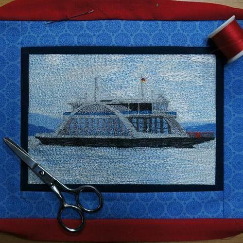 Makerist - Nähgemalter Miniquilt - Textilgestaltung - 1