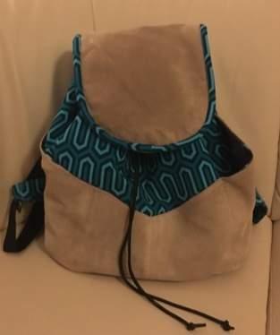 Makerist - Rucksack aus Softshell und recyceltem Wildleder - 1