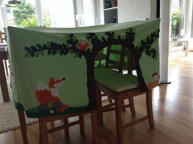 Makerist - Spielzelt Tischhusse für eine Kindergartengruppe - DIY-Projekte - 1