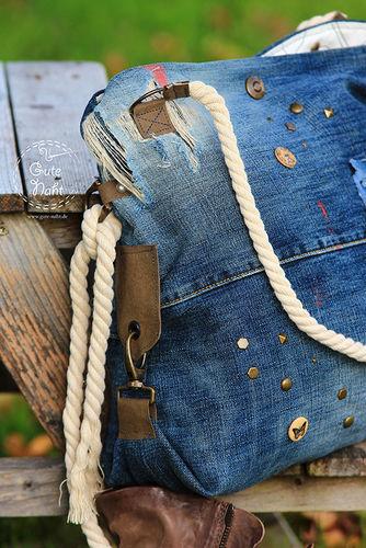 Makerist - Upcycling extrem - Casual Bag aus Jeans für die urbane Frau ;-) - Nähprojekte - 2