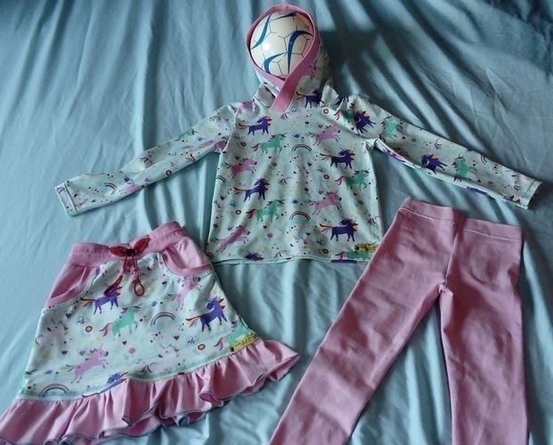 Makerist - Einhörner sind unterwegs Mädchenrock Pulli Leggins für Lea - Nähprojekte - 3