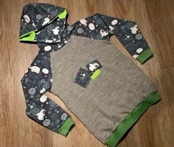 Makerist - Kinderpulli mit Kapuze aus Sweatshirts und Jersey - Nähprojekte - 1