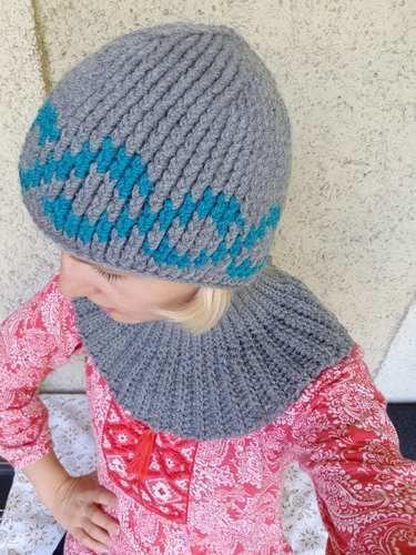 Makerist - Ein wunderschönes Häkelset: Häkelmütze und eine Halssocke. Sehr einfach zu häkeln. Gelingt ganz bestimmt. - Häkelprojekte - 1