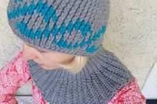 Makerist - Ein wunderschönes Häkelset: Häkelmütze und eine Halssocke. Sehr einfach zu häkeln. Gelingt ganz bestimmt. - 1