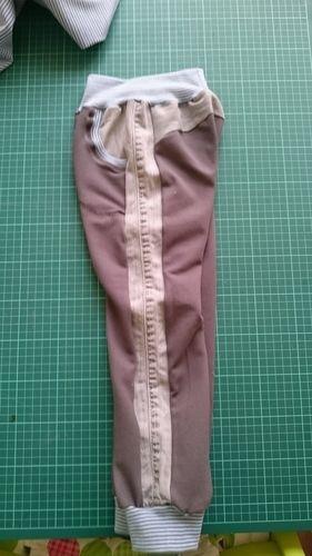 Makerist - aus Papas alter Jeans und Jeansjersey  - Nähprojekte - 2