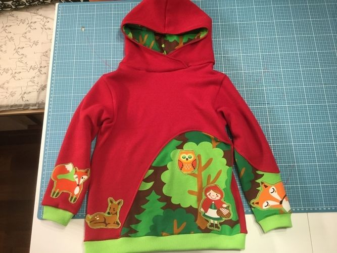 Makerist - Räubärhoodie aus sweat in 116 - Nähprojekte - 1