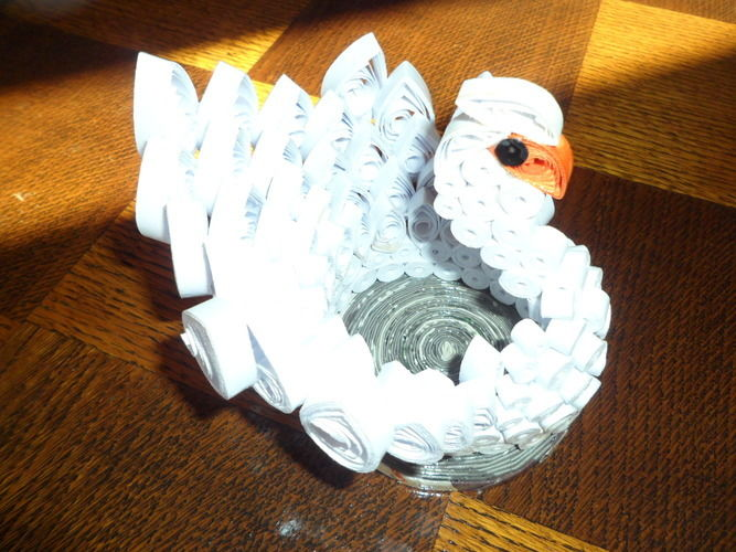 Makerist - Quilling - Cygne blanc - Autres créations - 2