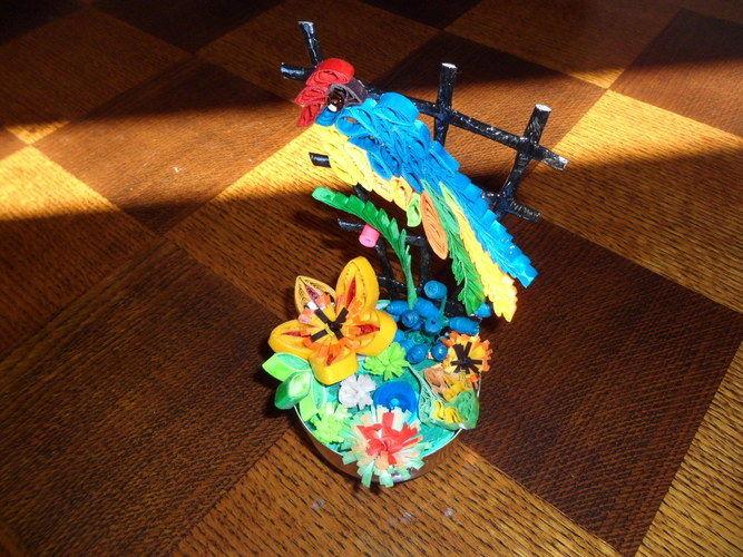 Makerist - Quilling - Oiseau - Autres créations - 1