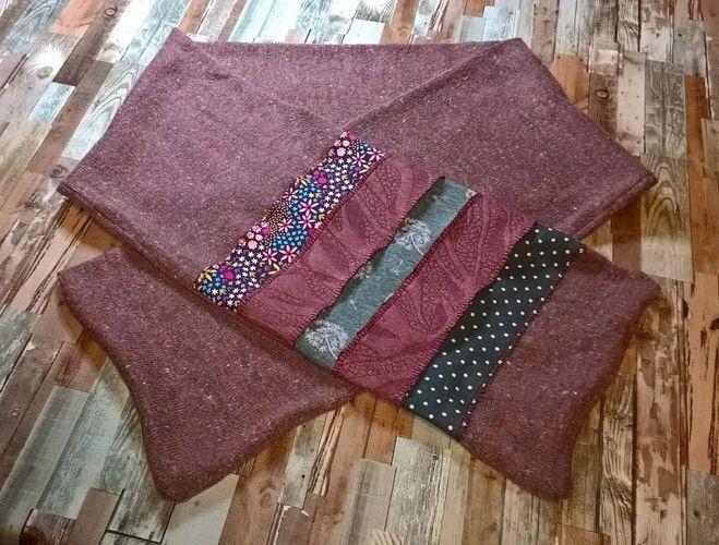 Makerist - Alter Schal aufgemöbelt - Nähprojekte - 1