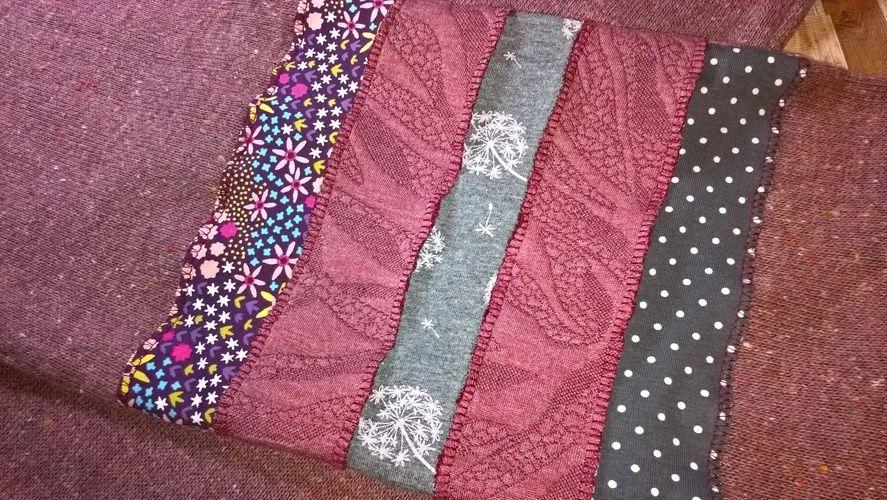 Makerist - Alter Schal aufgemöbelt - Nähprojekte - 2