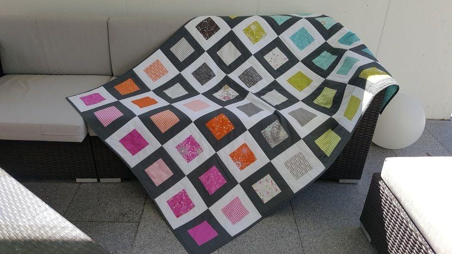 Makerist - Patchworkdecke und -Kissen - Patchwork-Projekte - 1