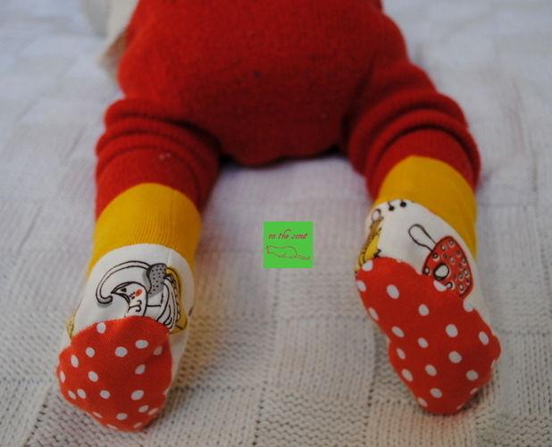 Makerist - erste selbstgenähte Söckchen aus Jersey für die kleine Princessa - Nähprojekte - 1